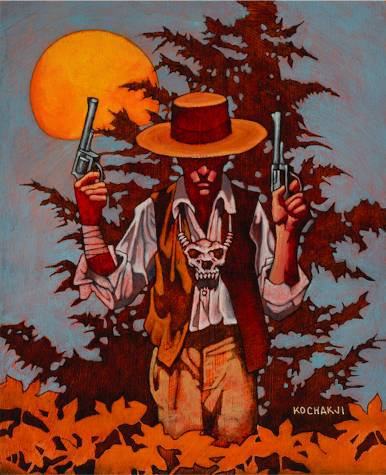 "Fineous Dougan - oil on board - 6.75x8"" - Rage: The Wild West - White Wolf Publishing"