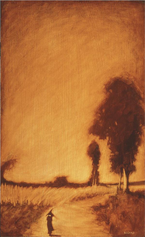 "Brianne's Journey - oil on panel - 12x20"" - Society of Illustrators 35"