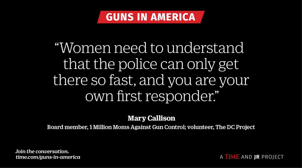 Mary Callison had the opportunity to be a part of a TIME Magazine and Artist JR Collaboration of 245 pro and anti gun people. The goal was to start a conversation and it definitely has! Check out her portion here.  http://time.com/guns-in-america/#mary-callison