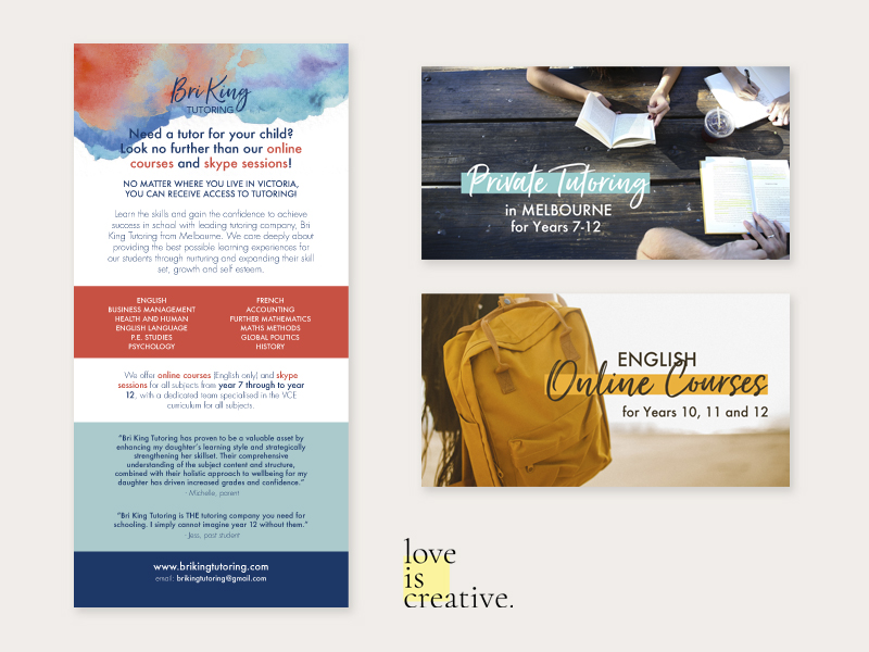 Bri King Tutoring Graphic Design Love is Creative