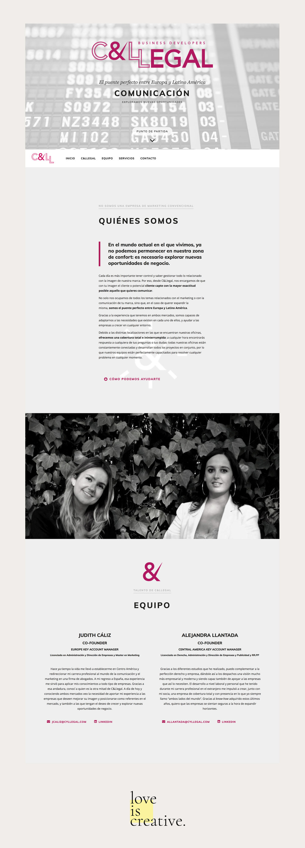 C&Llegal Website Design Love is Creative