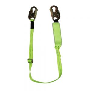 PRO+ 6' Adjustable Length Energy Absorbing Lanyard with Arc Flash Webbing