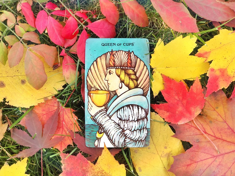 November - Tarot Card of the Month - Queen of Cups — Kozmic
