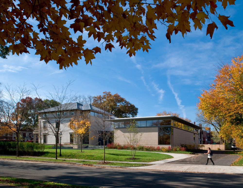 the Carl A. Field's Center for Equality and Cultural understandinghttps://www.archdaily.com/140245/princeton-university-carl-a-fields-center-ann-beha-architects/50148dcc28ba0d395000051d-princeton-university-carl-a-fields-center-ann-beha-architects-photo