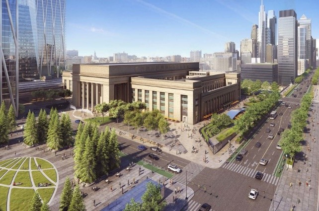 Philadelphia 30th Street Station District Plan : Through this plan, the 30th Street station will be able to serve more residents and visitors to the city and serve as an iconic gathering space with new plazas and public spaces.    Learn more about the master planning process for  Sunnyside Yard .