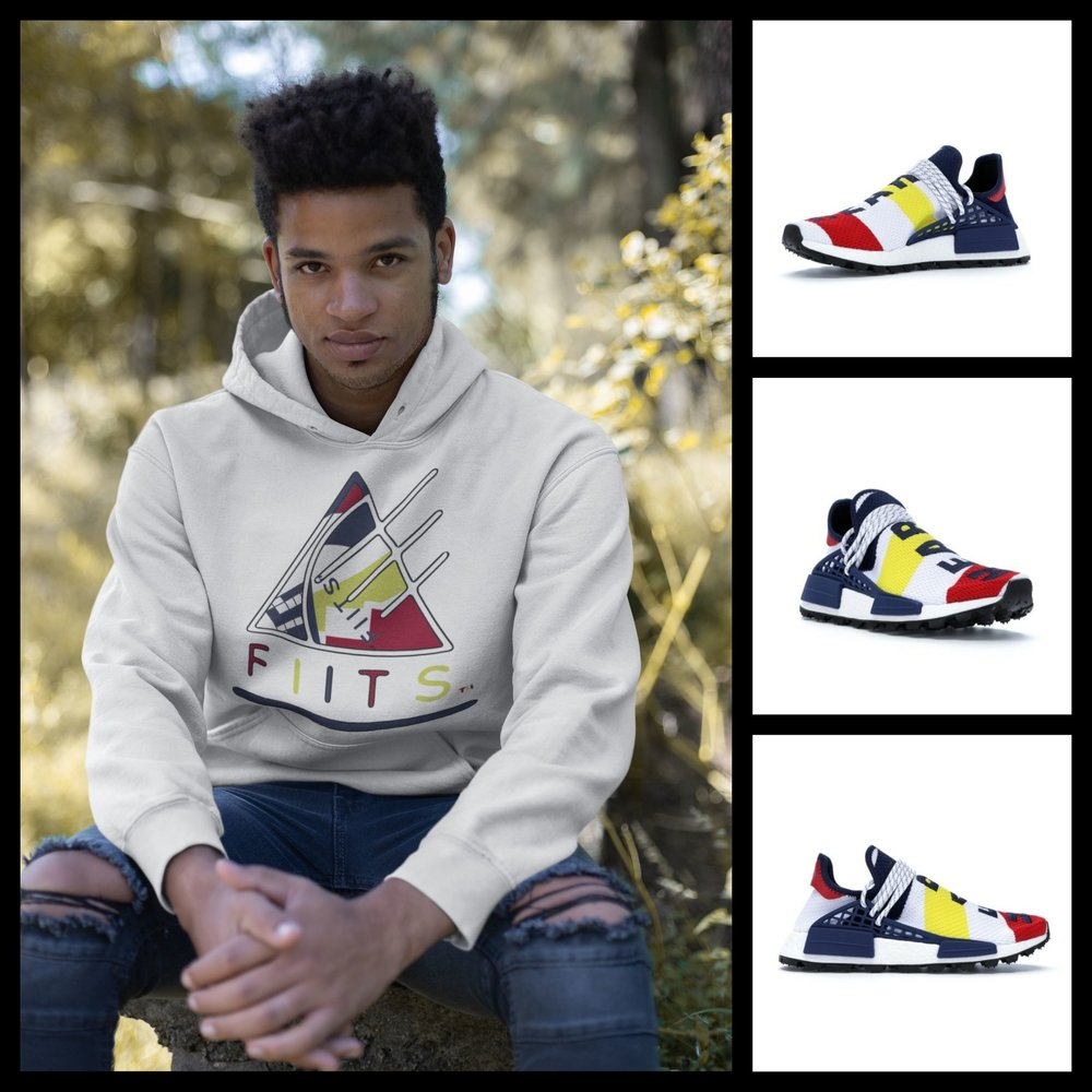 aDIDAS INSPIRED F I I T - Human Race Adidas NMD Hu Pharrell x Billionaire Boys Club Multi-Color F I I T.