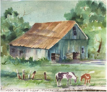 Plein Air painting by Connie Kuhn on June 19, 2018
