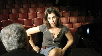"A still from ""Jogo de Cena"" (Playing) 2007 by Eduardo Coutinho. Coutinho 'interviews' actress Fernanda Torres in a fake 'audition.'"