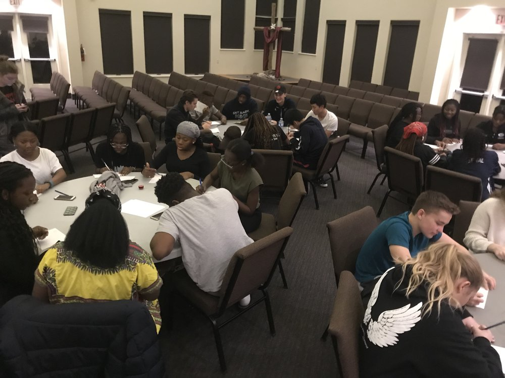 """Around 50 students come out every week for """"The City,"""" a youth gathering that is now hosted in Ft. Erie thanks to a school-church partnership."""