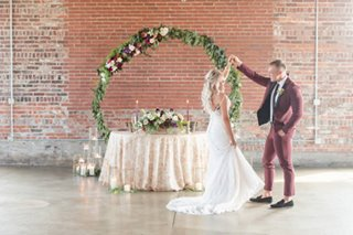 Industrial Glam wedding at INDUSTRY in downtown Indianapolis