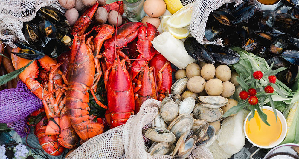 The classic Maine Lobster Bake