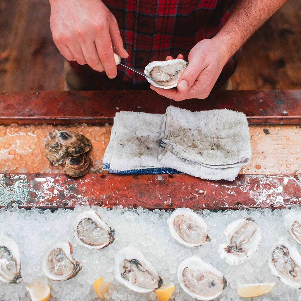 Through Eventide Oyster Co. we have had the opportunity to build strong relationships with Maine's best oyster farmers and fishermen. That means our raw bar offerings are always fresh, delicious, and locally sourced. Oysters are usually the centerpiece of our raw bar but we can expand the raw bar to include - littleneck clams, Jonah crab, crab legs, lobster tails, and beyond.