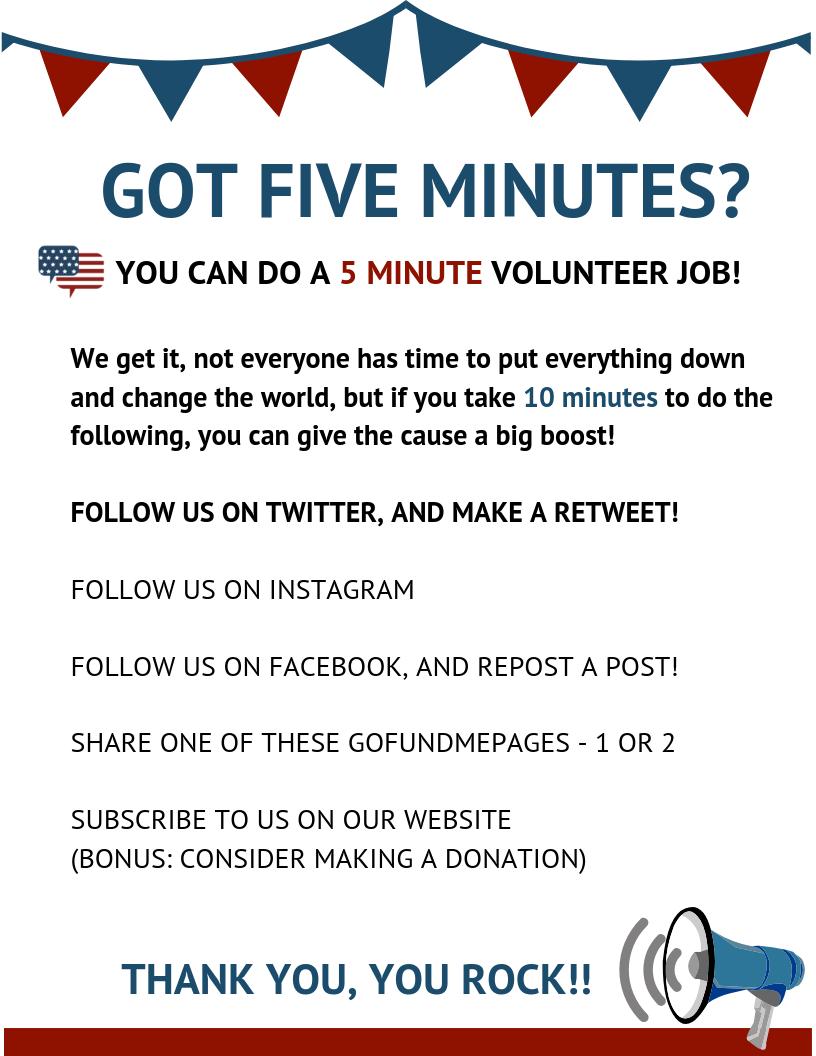 GOT FIVE MINUTES?
