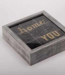 Caja para té, home is where you can be you. -