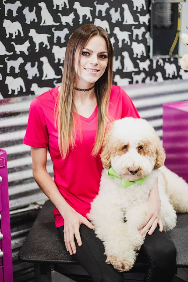 Meet Samantha!  Hi, I am an academy trained groomer & I have been in the industry since 2012. I have always been a crazy animal lover. I've always wanted a job working with animals. I decided to go with grooming & I absolutely love what I do. When I'm not working, I have my hands full with a toddler. I enjoy lazy days at home or going out and hanging with friends & family.