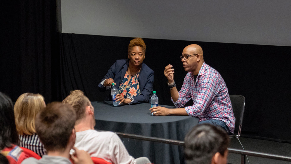 Screenwriter and film instructor Joy Kecken and screenwriter Tyger Williams