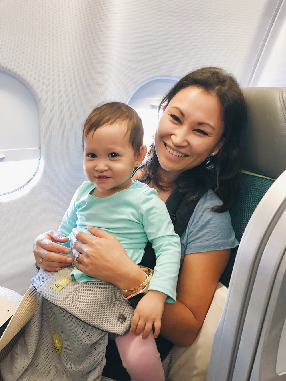 Aer Lingus Business Class lap baby