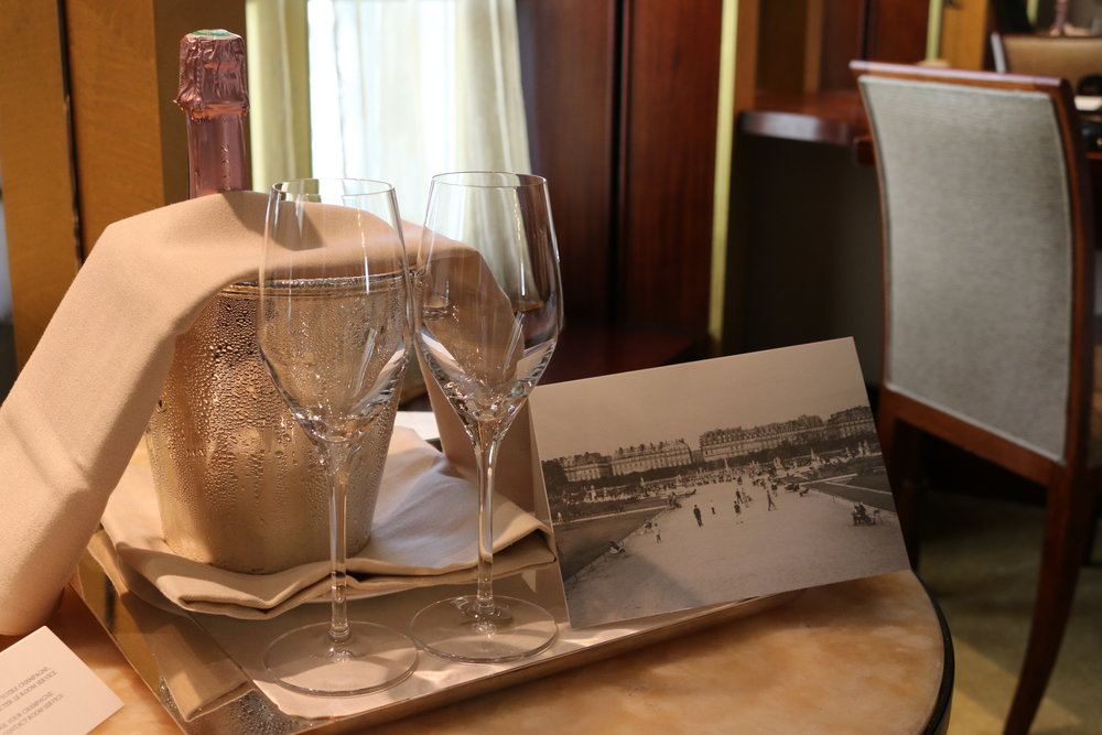 Celebratory champagne (2015) | Park Hyatt Paris | Travelhappy Luxury Hotel Review