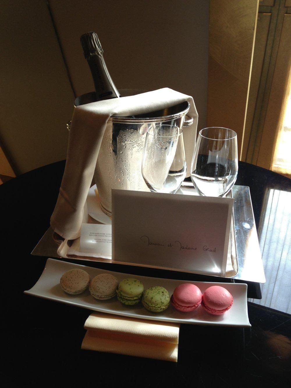 Welcome amenity on our honeymoon (2013) | Park Hyatt Paris | Travelhappy Luxury Hotel Review