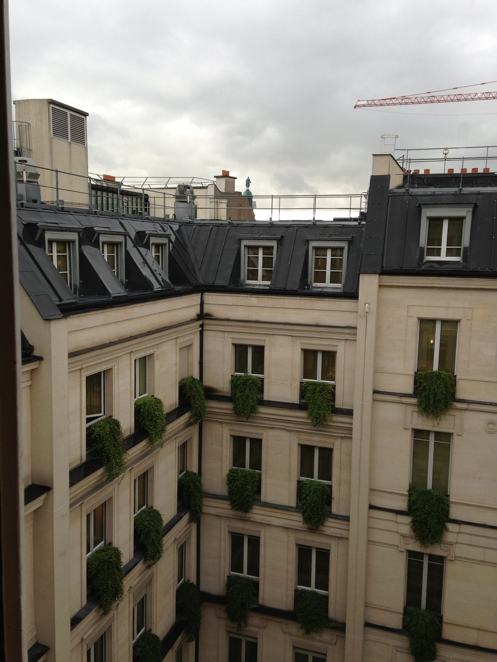 View of the inner courtyard from our honeymoon suite (2013) | Park Hyatt Paris | Travelhappy Luxury Hotel Review