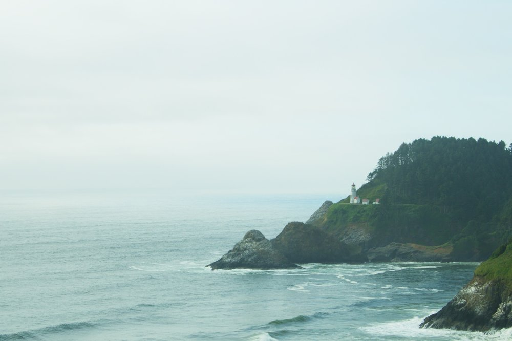 One of several lighthouses on the Oregon coast. There's something so mysterious and peaceful about lighthouses — what is it?