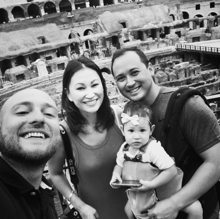 with Luca during our Colosseum tour with a Friend in Rome