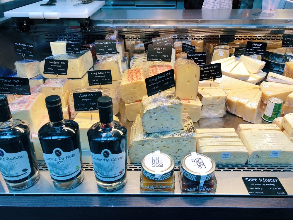 torvehallerne food hall cheese - foods of copenhagen food tour review - travelhappy luxury hawaii travel agency
