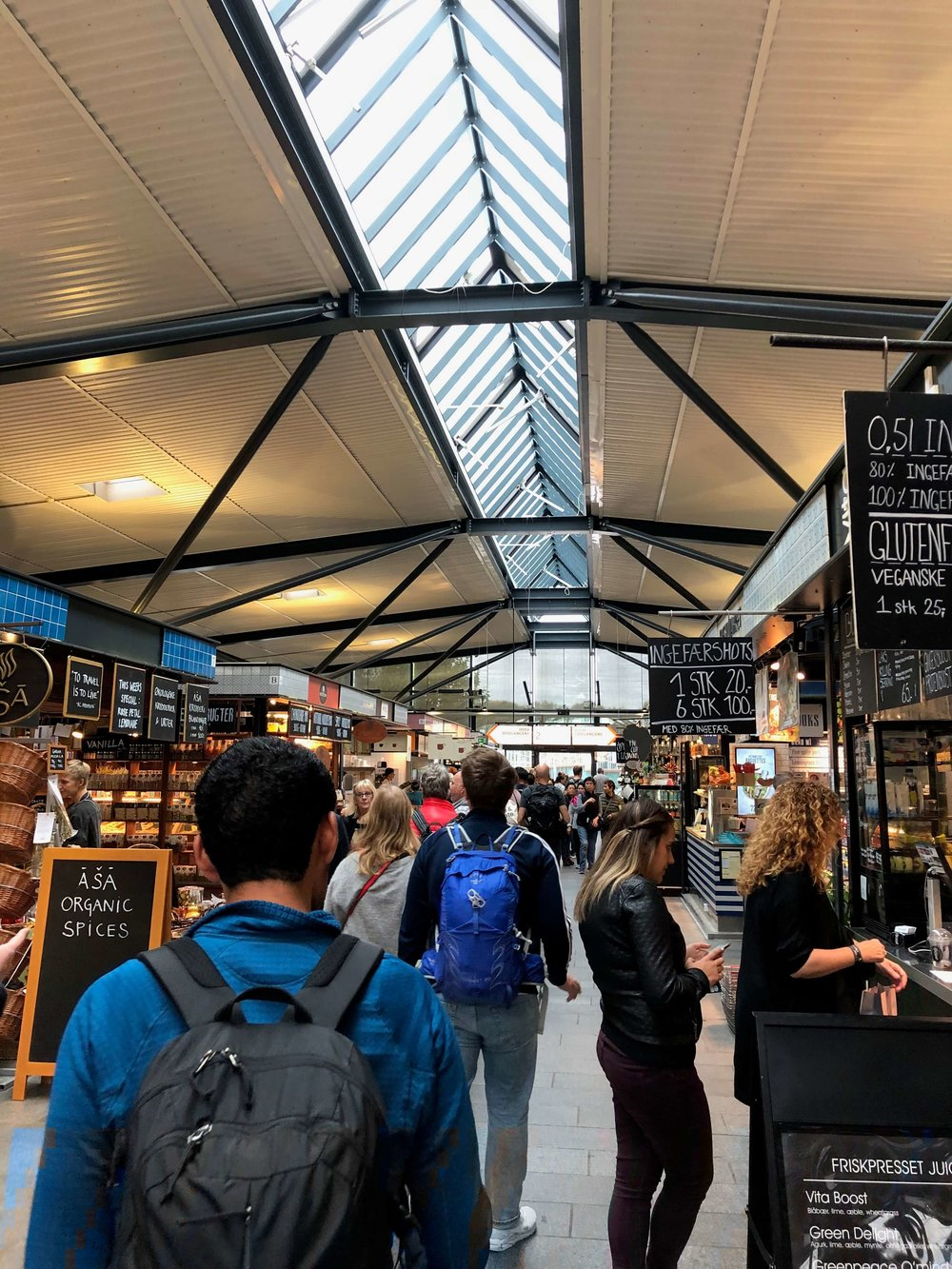 torvehallerne food hall inside- foods of copenhagen food tour review - travelhappy luxury hawaii travel agency