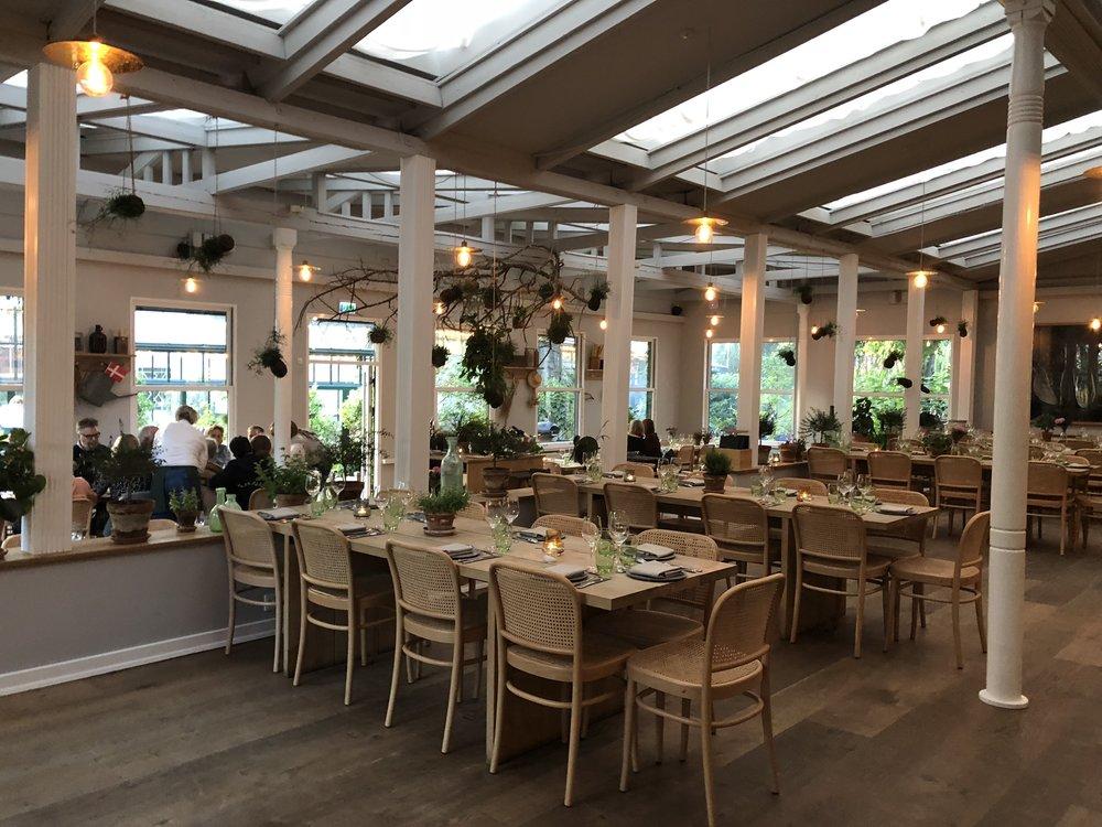 Inside of Gemyse restaurant in Tivoli Gardens