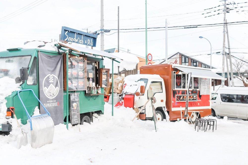 Best places to eat in Niseko Japan - food trucks