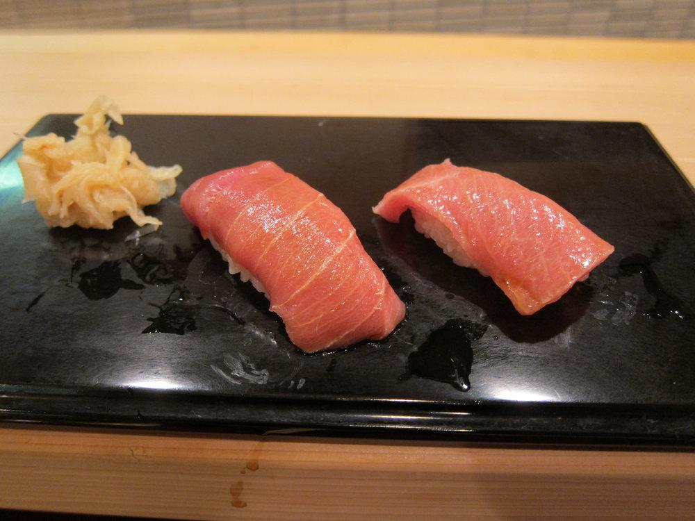 Chu-toro and oo-toro made by Jiro.