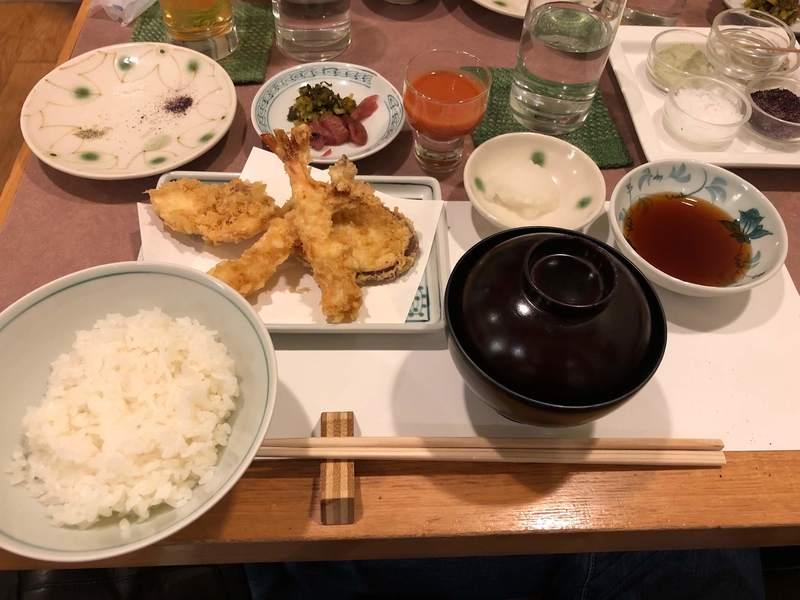Tempura lunch set at Tempura Tsunahachi
