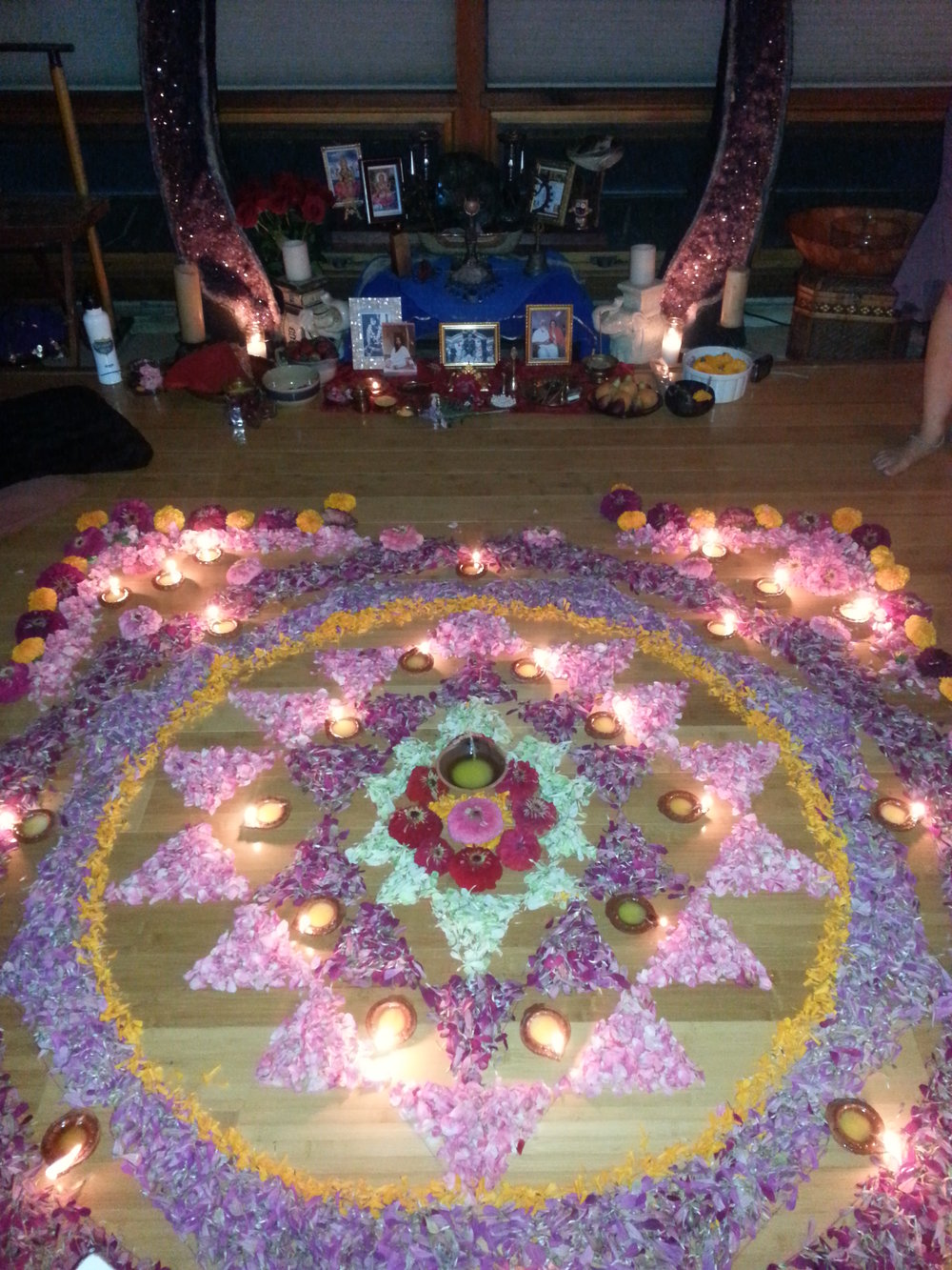 Yantra puja ceremony by Janice Craig in the Temple