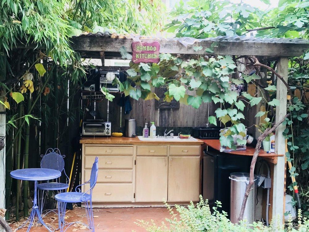 Outdoor Bamboo Kitchen