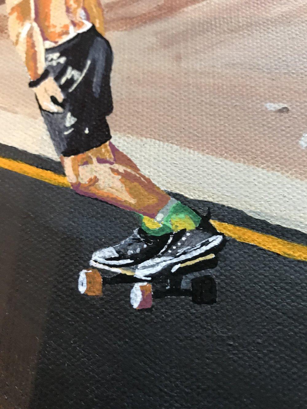 Death Valley Skateboarder Closeup