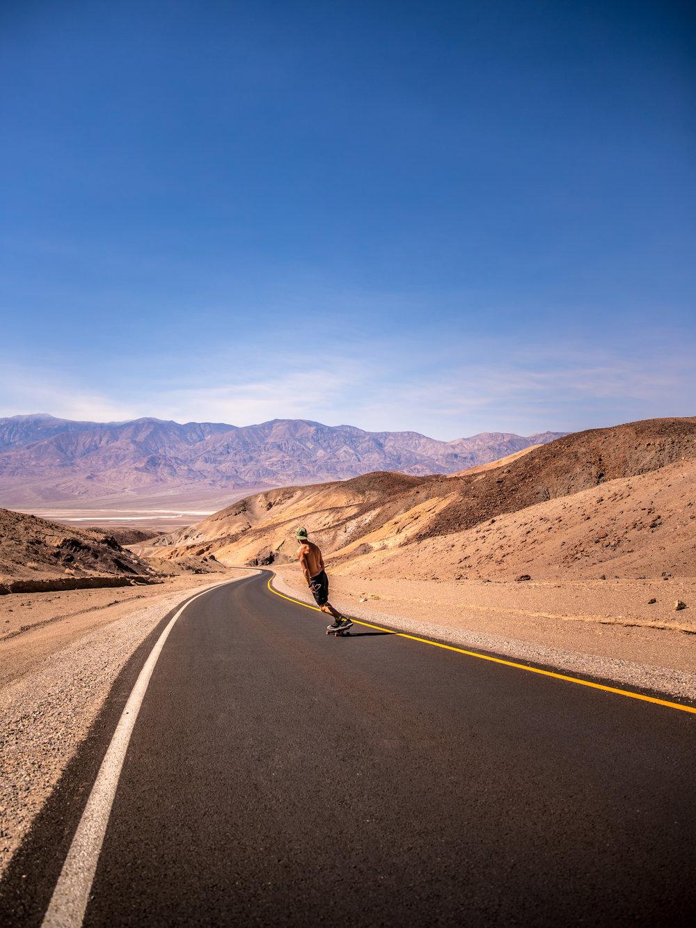 Photo of Death Valley Skateboarder