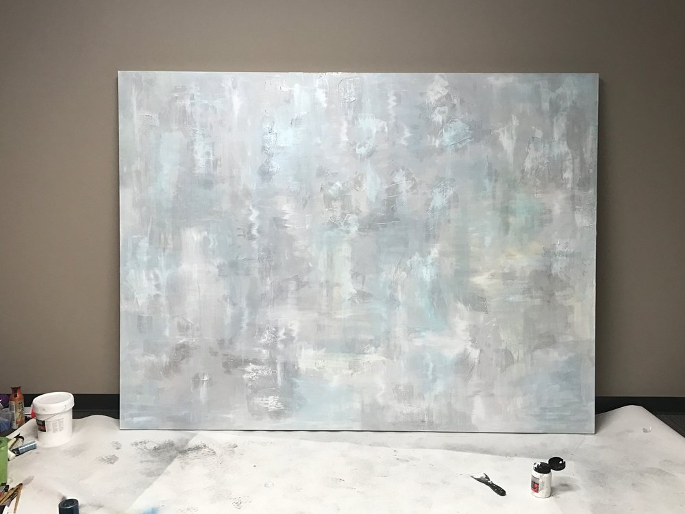 Man In Blue Painting by Casey Lynn Hancock 4