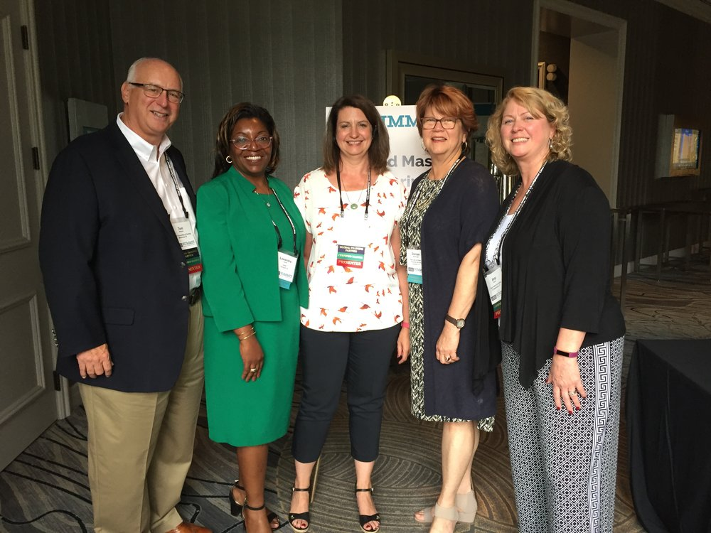 (l to r) Tom at The Leadership Challenge Summit 2018 with Lawandra Smith, Renee Harness, Denise McDonald, and Amy Dunn