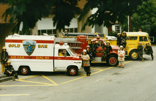 Members of the City of Gold Bar Fire Department during the 1980's