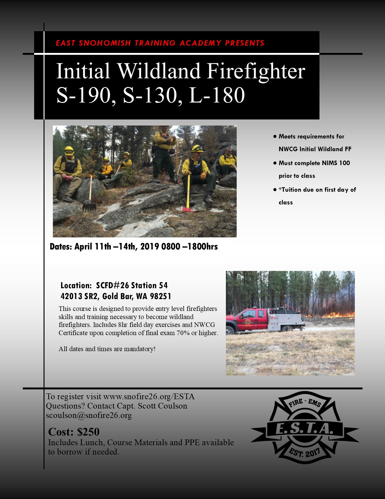 Initial Wildland Firefighter — Snohomish County Fire District 26