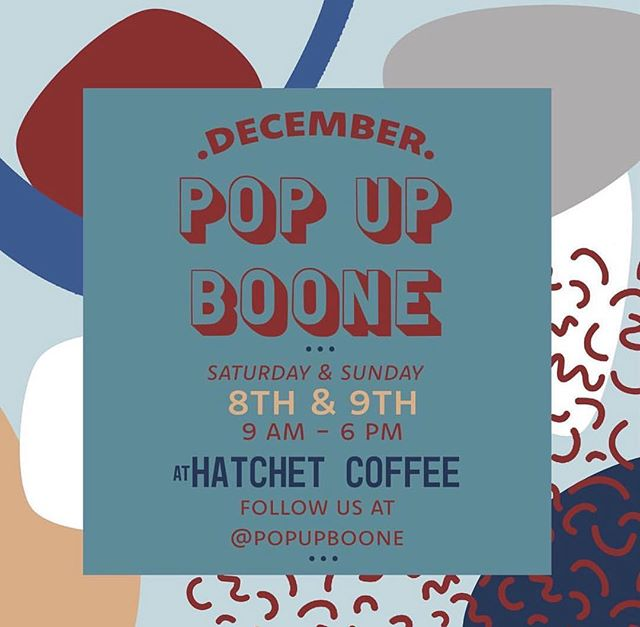 Soak & Smudge & many many many other amazing vendors will be @popupboone December. Great time to buy that special one of a kind piece for someone or yourself. 🎄