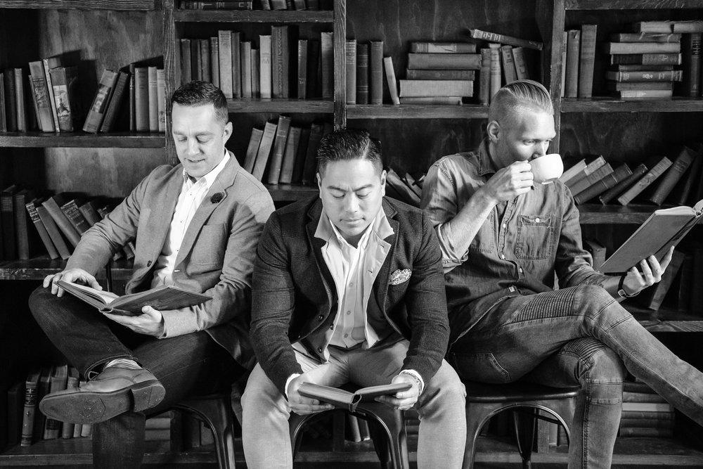 From left to right: Jared Harman, Ryan Moreno and Matt Borck
