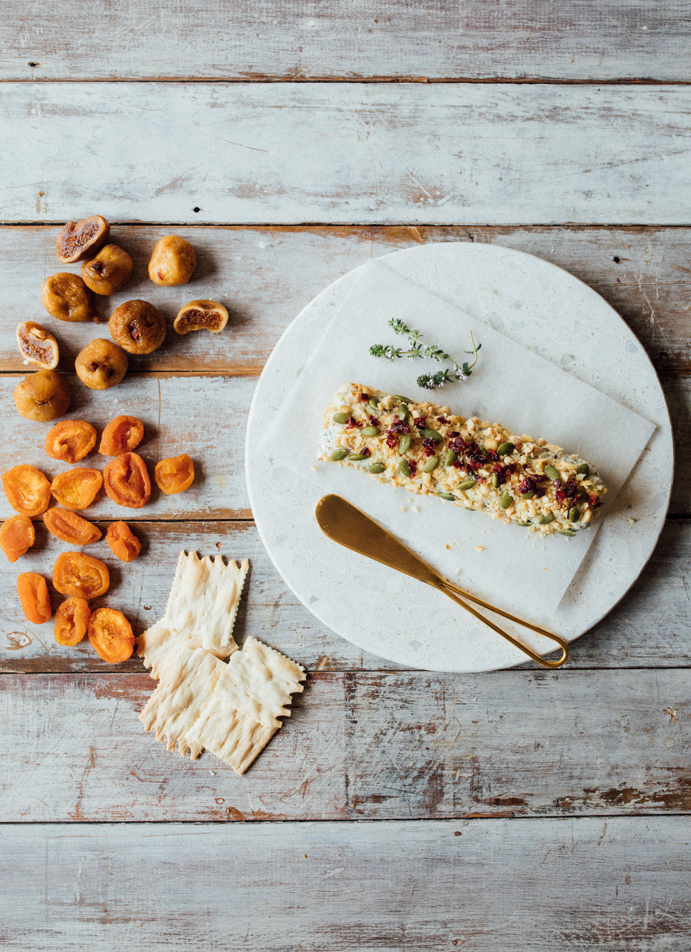Cranberry & Hazelnut Cheese Log