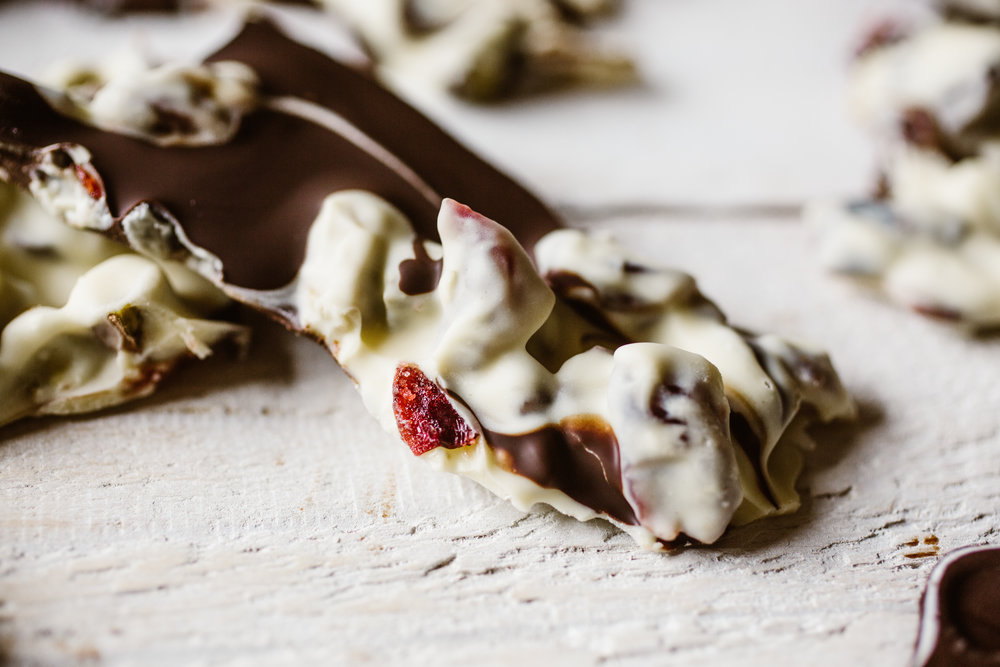 Cranberry & Pistachio Chocolate Bark