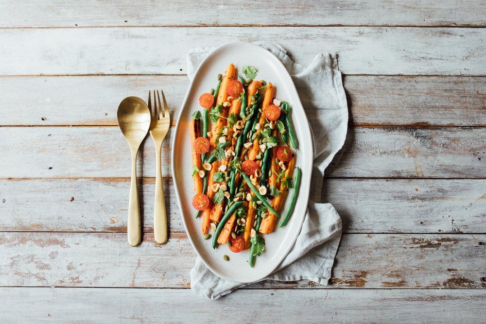 Roasted Carrot & Green Bean Salad
