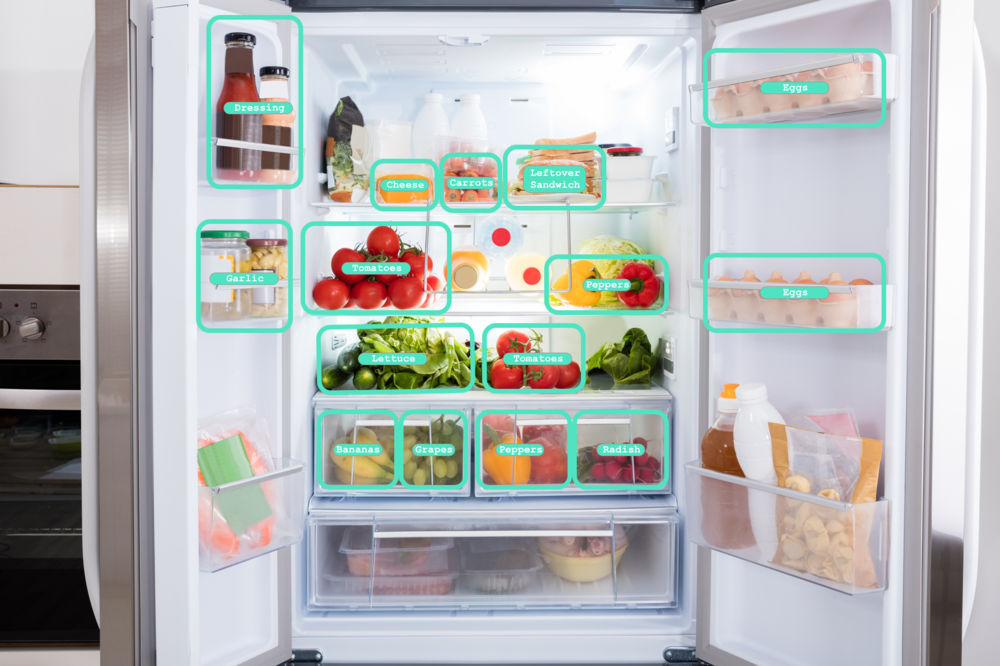 constantly getting smarter - We utilize advanced computer vision to help you take inventory of what's inside your fridge.