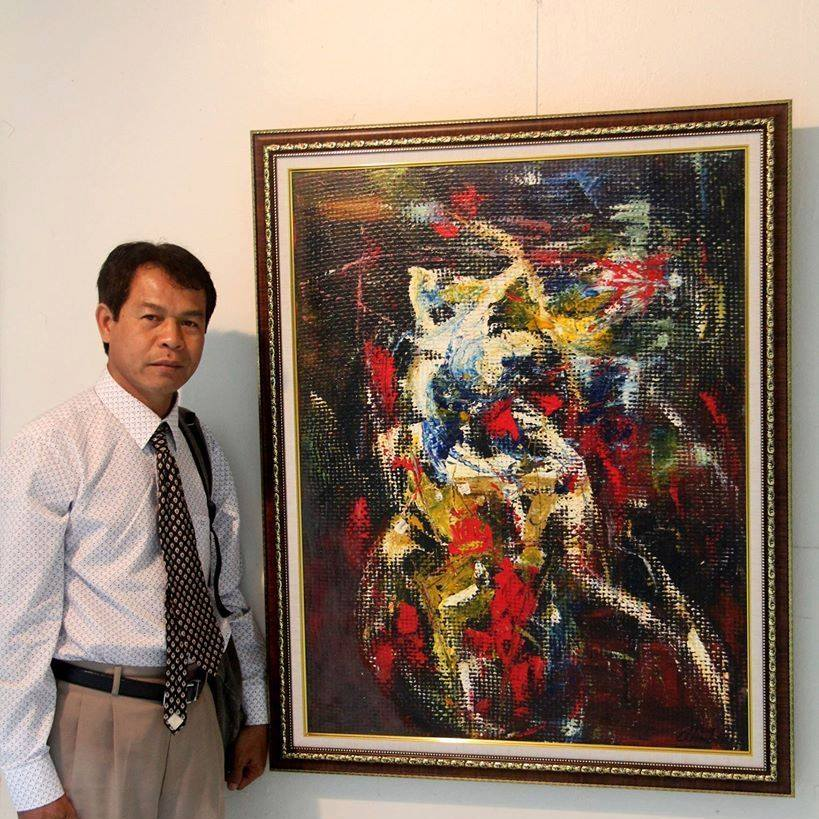 CAMBODIAN ARTIST CHHIM SOTHY - It is the honour of Yuetai Cambodia to here feature for your pleasure and edification a small selection of the recent works of the prominent and prolific artist Mr. Chhim Sothy…..