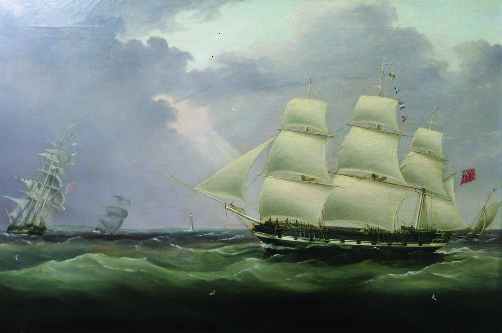 Unidentified British artist, portrait of Haig's ship, Sir John Rae Reid, c.1835