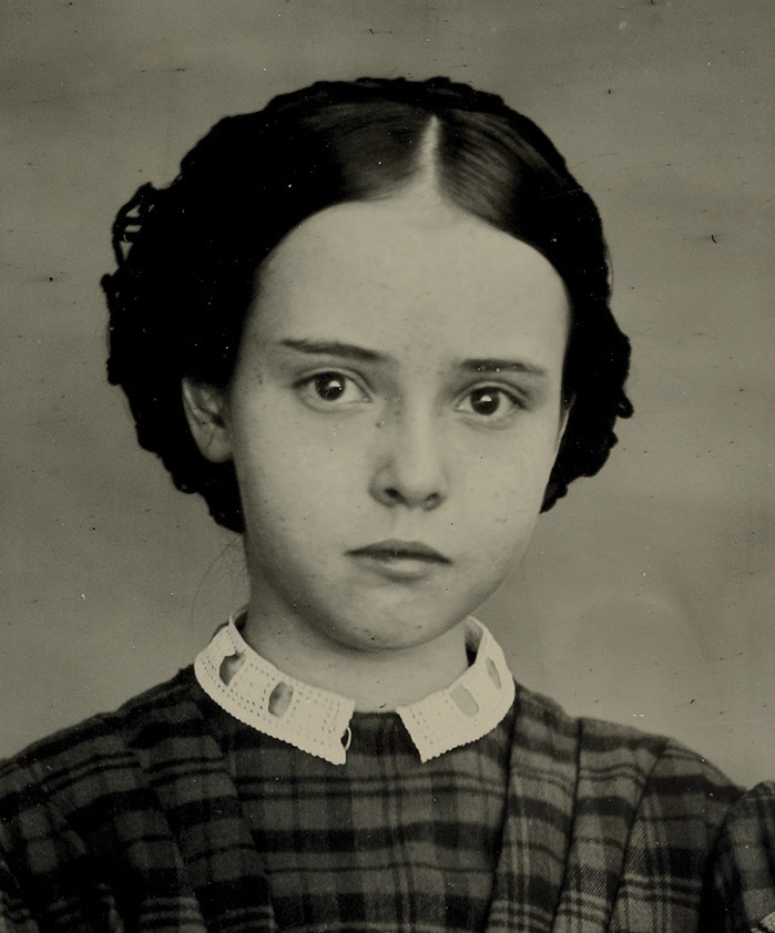 Fanny Davenport aged 12 years, unknown photographer, 1861