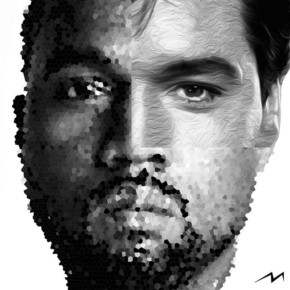 This piece was inspired by a question … Kanye West and Elvis … Both self destroyed at the peak of their success … Has Kanye done enough to be as memorable as Elvis ? Which one will leave a longer lasting memory ?